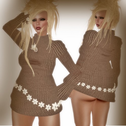A&A Fashion Sweater/Dress Brown