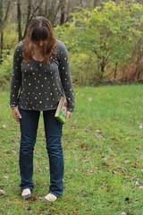 Outfit: gap jeans, gap top, Modcloth flats, DIY Heidi book clutch (tutorial coming soon!)