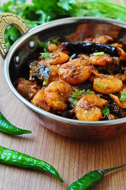 Kerala-Style Prawn Roast Recipe - Prawns or Chemmeen Roast Kerala-Style