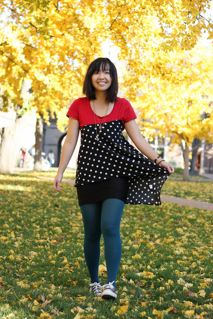 colorblock & polka dots