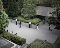 Japan (Cees Willems) Tags: street people plant colour building mobile japan architecture handy lunch japanese tokyo office shinjuku break phone cigarette smoking business smoker metropolitan gsm salaryman 35l ceeswillems 5dm2
