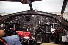Cockpit of Aluminum Overcast (Bill Jacomet) Tags: flying airport aluminum experimental texas fort aircraft wwii houston overcast b17 ww2 bomber fortress warbird association eaa warplane sugarland b17g flting b17gve