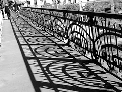 arabesques & shadows (mujepa) Tags: bridge shadow blackandwhite bw france monochrome pattern noiretblanc footbridge character perspective pedestrian nb pont amos lorraine metz ombres arabesque personnage piton doubleniceshot mygearandme rememberthatmomentlevel4 rememberthatmomentlevel1 rememberthatmomentlevel2 rememberthatmomentlevel3