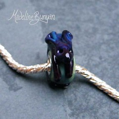 """Deep Purple Bunny on Sage Green Silver Cored Bead • <a style=""""font-size:0.8em;"""" href=""""https://www.flickr.com/photos/37516896@N05/6418488579/"""" target=""""_blank"""">View on Flickr</a>"""