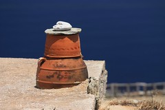 Traditional pot on roof (Marite2007) Tags: roof water architecture islands mediterranean traditional aegean pots ornament seashore cyclades folegandros
