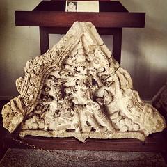 ปูนปั้น ประดับหน้าบันพระปรางค์วัดมหาธาตุ ศิลปอนุธยา พุทธศตรวรรษที่ 21-23