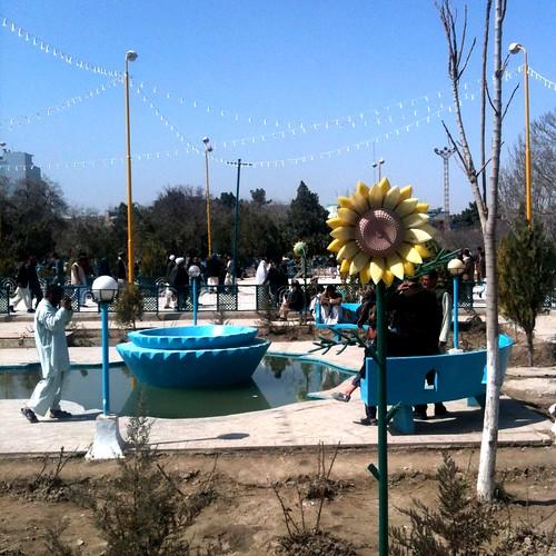 Super-rad park where the Blue Mosque is in Mazar-e-sharif.