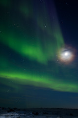 Light it up (Three Per) Tags: winter moon snow canada cold night lights long exposure north aurora northern nunavut borealis