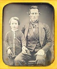 Proud Son & Dad Daguerreotype (Mirror Image Gallery) Tags: daguerreotype victorianchildren victoriandad
