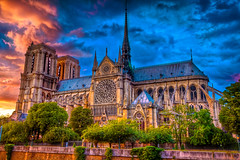Notre Dame Sunset (Joshua Gunther) Tags: street city travel vacation urban paris france night canon landscape photography europe cityscape joshua cityscapes 5d hdr gunther nightscapes mkii joshuagunther joshuaguntherphotography