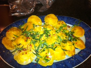 Lemon and Goat Cheese Ravioli