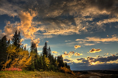 Autumnal sunset (JoLoLog) Tags: autumn sunset canada fall fallcolors joe highway1 alberta hdr canonxsi dblringexcellence tplringexcellence artistoftheyearlevel4 musictomyeyeslevel1 artistoftheyearlevel5 eltringexcellence 4timesasnice 6timesasnice 5timesasnice