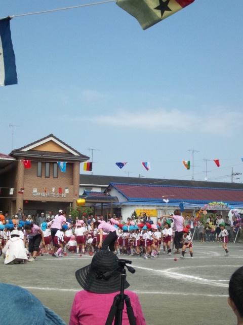 下の子の運動会の写真