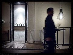 _PM01614 copy (mingthein) Tags: life people motion silhouette night digital dark four cafe action bokeh availablelight photojournalism olympus micro pj restaraunt kuala kl ming zuiko lumpur waiter 43 reportage 122 thirds rils m43 onn zd mft pm1 thein photohorologer microfourthirds mingtheincom epm1 zuiko122