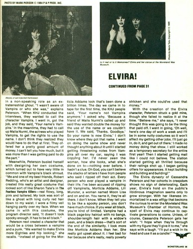 Monster Land #7 Elvira Article Page 5