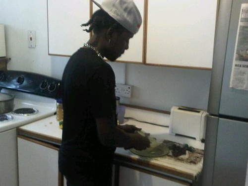 Welcome to di fry eye kitchen' was the greeting from STAR of the month for October Popcaan, as he treated The STAR on Monday October 10, 2011. The deejay invited us into the kitchen to watch him cook curry chicken and rice. Watch his cooking experience he