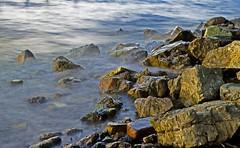 Rocks in the water (84billy) Tags: lake water rock lago agua rocks nd roccia acqua rocas roccie musictomyeyeslevel1
