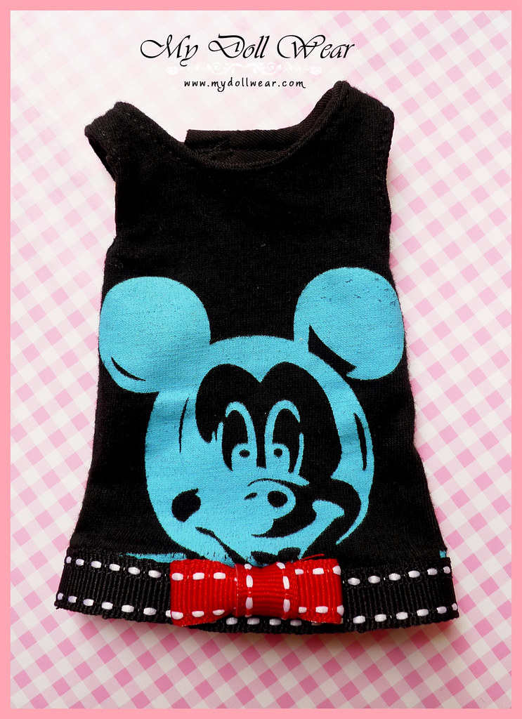 Blythe Outfit - Mickey Sleeveless T-Shirt Dress