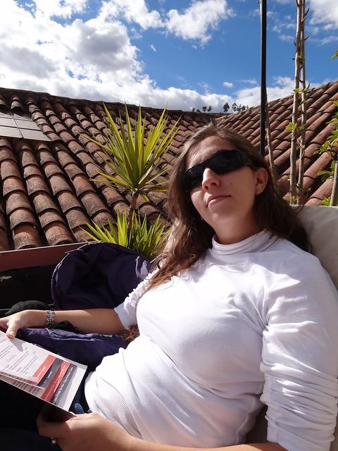 Cuzco et Gaga sur une terrasse