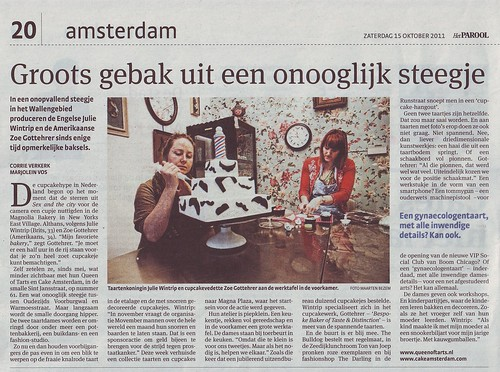 Het Parool - PRESS - 15/10/11 by CAKE Amsterdam - Cakes by ZOBOT
