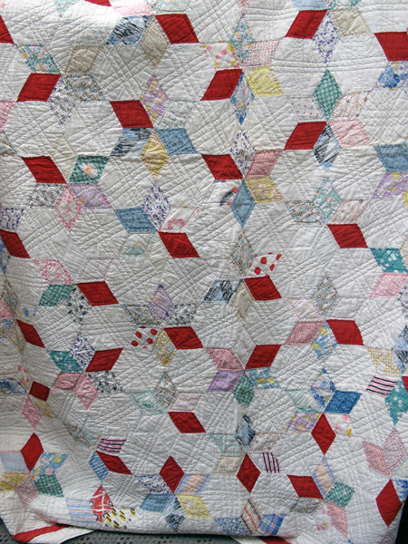 Vintage 6-Pointed Star Quilt