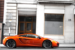 A Darker Orange. (Alex Penfold) Tags: mclaren mp4 12 mp412 mp412c volcanic volcano orange dark metallic london mayfair supercars super car cars auto mobile hyper sports sport sportscar hypercar hypercars supercar sportscars canon 60d eos alex penfold alexpenfold flickr spotting spotted spotter spot awesome cool flash exotic exotica photography photograph photo camera image picture 2011