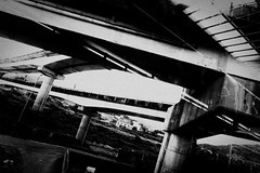 complication (liver1223) Tags: street city bridge 2 blackandwhite bw photo interestingness interesting highway shot taiwan snap explore taipei gr ricoh grd explored blackwhitephotos