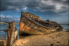 Wreck of  Magour (Emmanuel Leme | Photographie) Tags: ocean sea france beach cemetery clouds boats sand nikon europe raw bretagne atlantic wreck morbihan hdr emmanuel etel epave leme blinkagain lemagouer pecoreproduction
