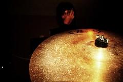 Golden cymbal (Iagology) Tags: contrast canon drums rebel florida brandon tint headphones pearl temperature cymbal
