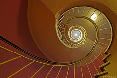 Spiral stair (dorena-wm) Tags: light color lines mnchen spiral bayern bavaria licht stair linie treppe curve farbe spirale stufe kurve gelnder spiralstair wendeltreppe cafeglockenspiel munuch rundung bestcapturesaoi dorenawm