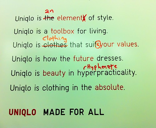 Edited Uniqlo ad