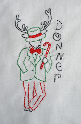 Reindeer Embroidery - Donner