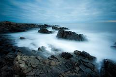 Vapor, Rock, Scissors (loomstone) Tags: longexposure seascape water rocks maine shoreline seashore seacoast daybreak ogunquit marginalway sigma1020 bigstopper leebigstopper