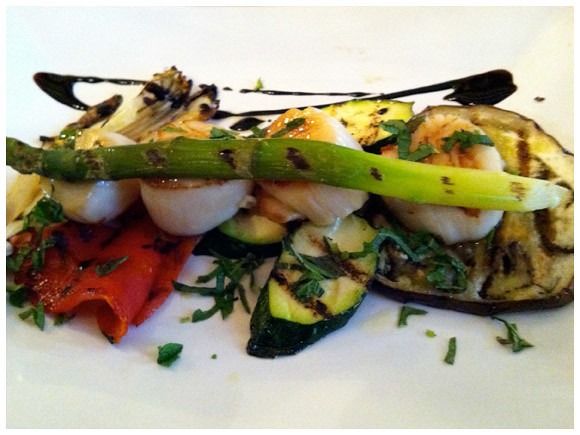 Scallops and grilled vegetables - Cittadella, Geneva