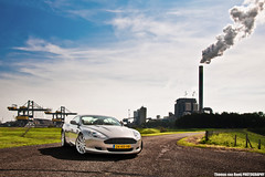 Aston Martin DB9 (Thomas van Rooij) Tags: summer sun sunlight cars industry netherlands dutch car backlight silver nijmegen river photography grey nikon photoshoot martin harbour crane thomas smoke smooth nederland style sunny automotive cranes exotic zomer elegant rook dijk luxury industrie supercar dike aston exotics supercars tegenlicht zonlicht elegance v12 waal db9 fotoshoot rivier zonnig rooij worldcars thomasvanrooij