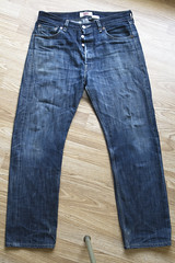 Levi's 501 Shrink to fit (Pair 2) front (carianoff) Tags: raw jean denim levis processed shrinktofit