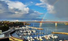 Tarde otoal (mukotxa) Tags: espaa azul arcoiris mar spain barcos galicia nubes otoo yates ribadeo ra arcodavella natico puentedelossantos