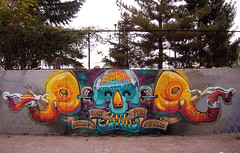 ARSEk & ERASE - Sofia,Bulgaria'2011 (FourPlus Studio) Tags: elephant man hot art colors animal graffiti sofia bulgaria burn erase arsek fourplus