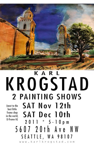 Karl Krogstad painting show by Wonderlane