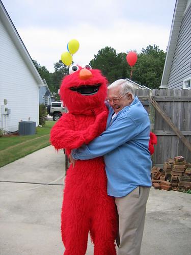 Papa and Elmo