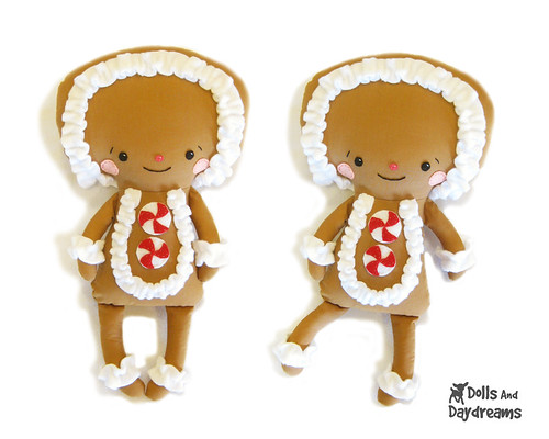Christmas Gingerbread man cute kawaii sewing pattern copy - a photo ...