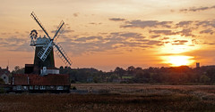 Cley Sunset (2) (Gerry Balding) Tags: sunset england windmill norfolk eastanglia cley northnorfolk wivetonchurch
