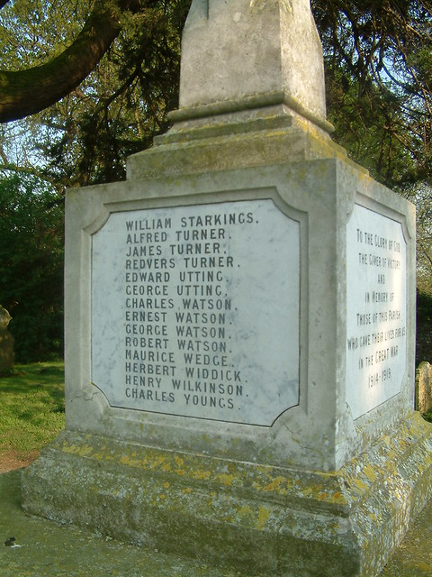 Martham War Memorial WW1  - Panel 3