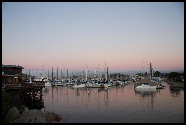 dusk in Monterey
