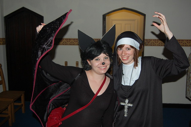 Bat meets nun