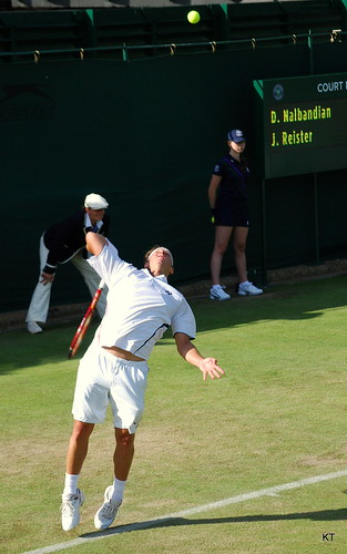 Julian Reister - David Nalbandian serve