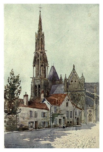 028-Catedral de Senlis-Cathedral cities of France 1908- Herbert Menzies Marshall