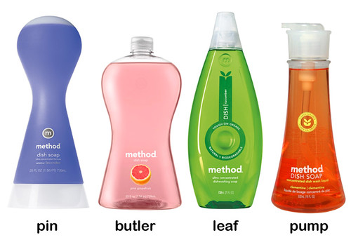 The different Method bottle designs