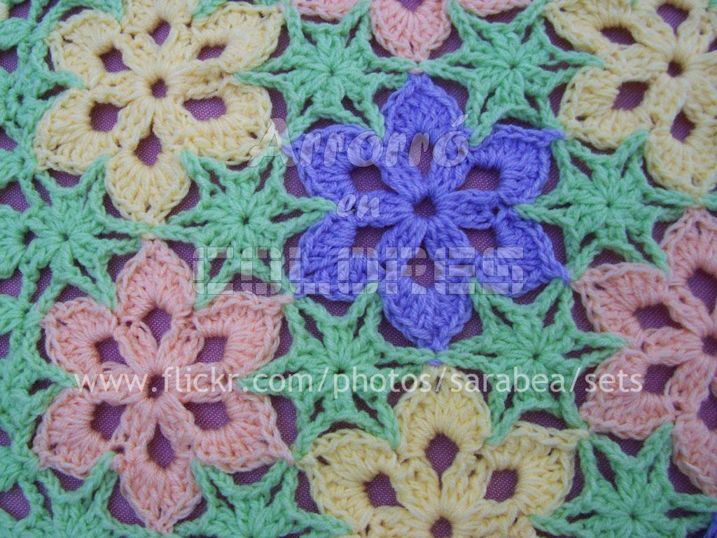 Flores Crochet. . Fantstica Manta Tejida Crochet Con Patrones ...