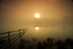 Orange Fog (PeterYoung1.) Tags: orange mist fog sunrise landscape scotland scenic loch atmospheric wow1 wow2 wow3 wow4 wow5 knappsloch